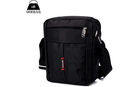 Univerzální pánská crossbody taška v tmavé barvě