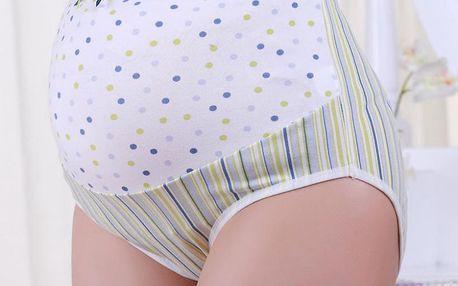 Těhotenské kalhotky s barevnými puntíky