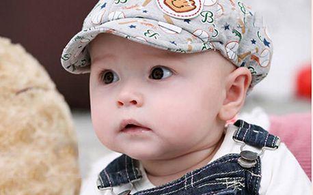 Dětská kšiltová čepička s barevným potiskem