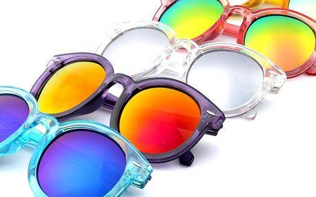 Unisex kulaté sluneční brýle ve veselých barvách