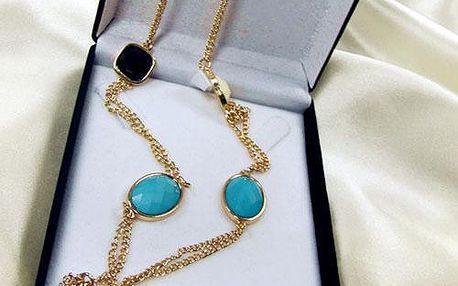 Vícebarevný zlatý náhrdelník