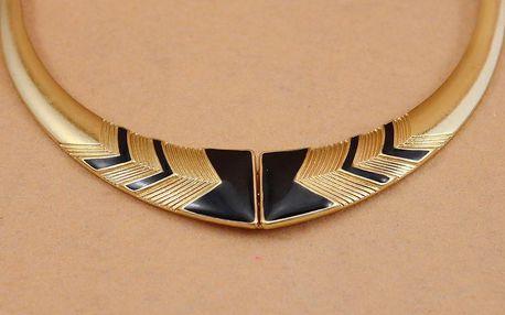 Masivní dámský náhrdelník ve zlaté barvě