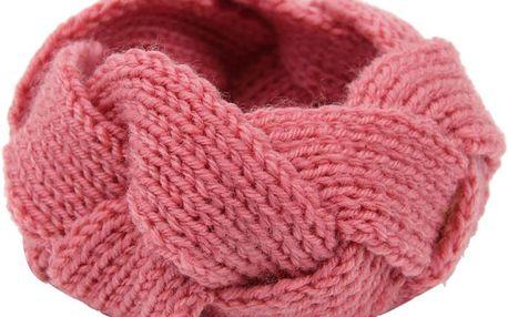 Dámská pletená čelenka do chladného počasí