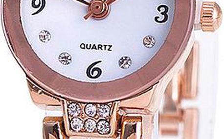 Decentní hodinky s hladkým páskem
