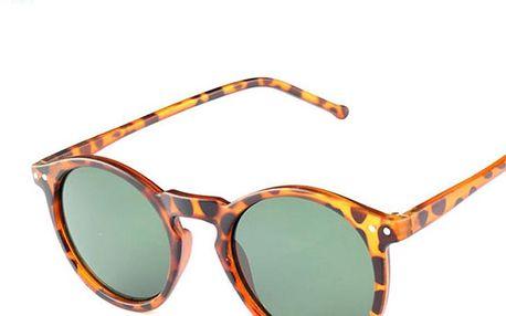 Módní kulaté sluneční brýle vintage
