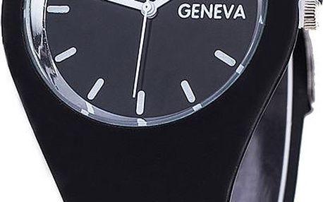 Futuristické silikonové hodinky Geneva s kulatým ciferníkem