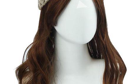 Dívčí pletená čelenka na chladné dny