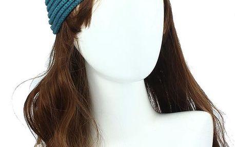 Trendy pletená čelenka na zimu