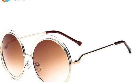 Elegantní kulaté sluneční brýle vintage