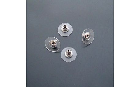 Balíček gumových zarážek na naušnice