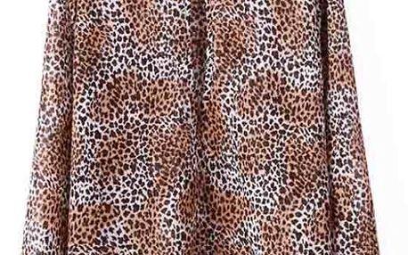Dámská volná halenka s leopardím vzorem