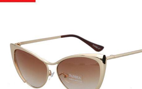 Sexy dámské sluneční brýle se zesílenými obroučky ve tvaru oušek