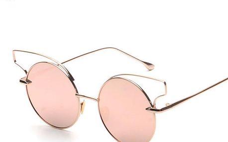 Jemné dámské sluneční brýle v kulatém tvaru