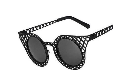 Kulaté dámské brýle s děrovanými obroučkami