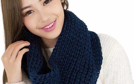 Dámská pletená šála - nákrčník