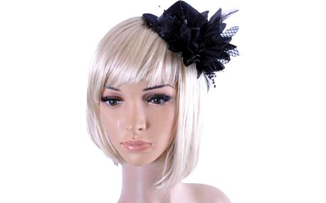 Módní připínací klobouček do vlasů s květinou
