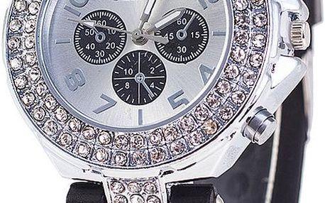Jednobarevné silikonové hodinky Geneva s kamínky