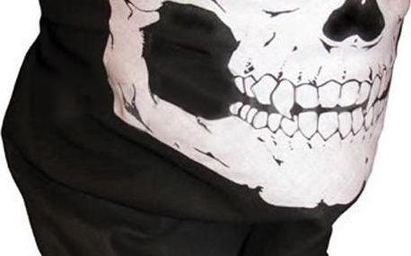 Šátek na obličej s potiskem lebky