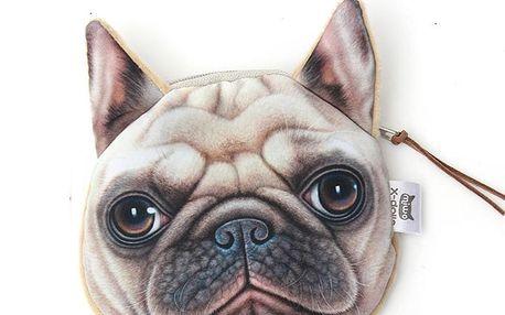 Roztomilá mini peněženka na zip - různé motivy psů a koček