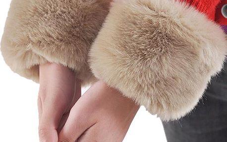 Dámské návleky na ruce z umělé kožešiny