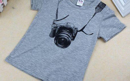Dětské triko s fotoaparátem