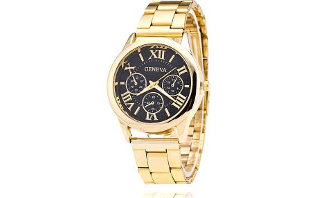 Luxusní hodinky Geneva - zlatá barva