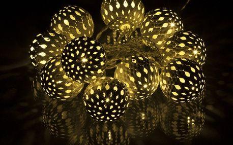 Vánoční LED dekorace baňky Retlux RXL 50 1,5m teplá bílá