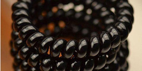 Gumičky do vlasů z plastové pružinky - 4 kusy