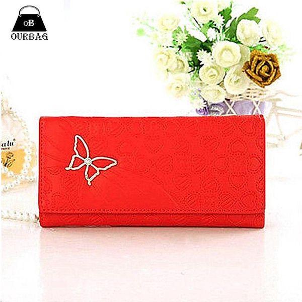 Romantická dámská peněženka se srdíčky a motýlem - více barevných provedení