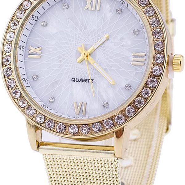 Elegantní zlaté hodinky s magickým displejem