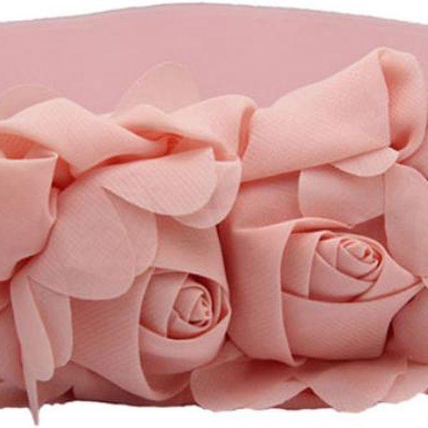 Dámský elastický pásek s dvěmi růžemi