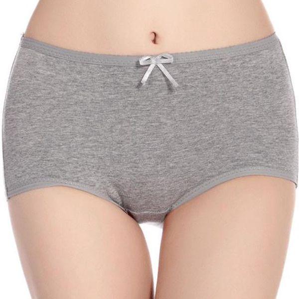 Jednobarevné vysoké kraťáskové kalhotky s mašličkou