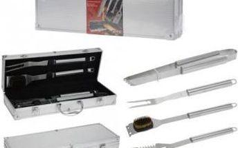 Grilovací nářadí v kufříku sada 4 ks ProGarden KO-C80210330 Grilovací nářadí v kufříku sada 4 ks ProGarden KO-C80210330