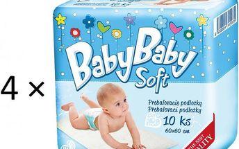 BabyBaby Soft Přebalovací podložky 4 × 10 kusů