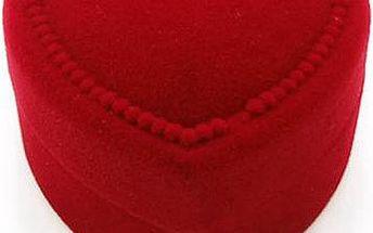 Dárková krabička na šperky ve tvaru srdce