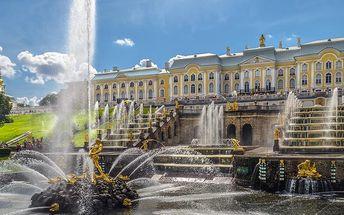 Carský Petrohrad s návštěvou paláce Petrodvorec a snídaní pro JEDNOHO