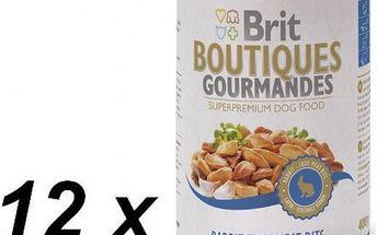 Brit Boutiques Gourmandes Rabbit True Meat Bits 12 x 400g