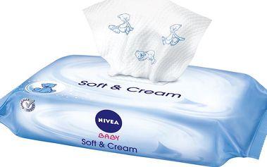 Nivea Baby Čistící ubrousky Soft&Cream 63 ks