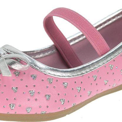Beppi Dívčí balerínky s kamínky - růžové, EUR 22