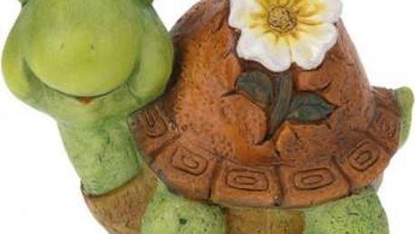 Zahradní dekorace želva s květinou, střední ProGarden KO-795003050zelv Zahradní dekorace želva s květinou, střední ProGarden KO-795003050zelv