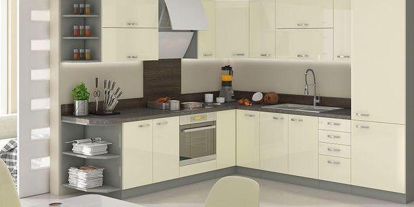 Luxusní kuchyně Carmen, šedý lesk - HIT 2015 Carmen : Zvolený rozměr 120/180cm