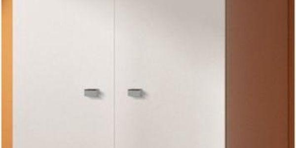 Bílá skřín Modena 2D