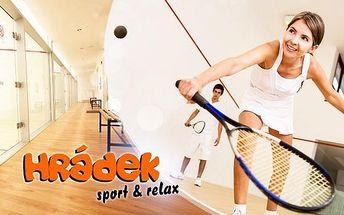 Pronájem squashového kurtu na hodinu ve sportovním centru Hrádek! Zahrajte si squash se svými přáteli.