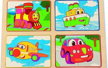 ANDREU Toys Puzzle s dopravními prostředky
