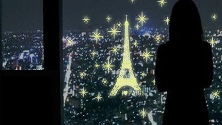 Samolepka na zeď - svítící Eiffelova věž