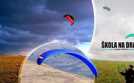 """Kite kurz pro začátečníky i pokročilé - landkiting! 2hod. lekce """"Start to fly"""" nebo 1denní kurz v Praze i dalších."""