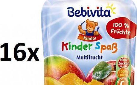 Bebivita Ovocná kapsička - Ovocný mix - 16×90g