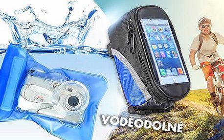 Voděodolné pouzdro na fotoaparát, či pouzdro na kolo pro mobilní telefon. Skvělý outdoorový doplněk včetně pošty.