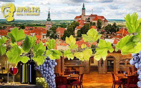 LAST MINUTE pobyt pro dva milovníky vína s polopenzí v hotelu Aurelius