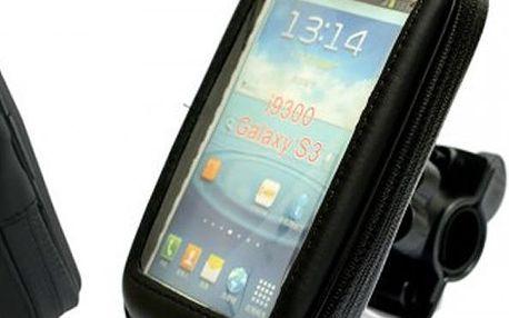 Vodotěsnýobal na mobilní telefon s jednoduchým připevněním na řídítka. Mějte svůj telefon na očích.